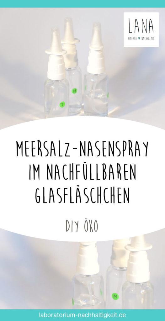 Pinterest-Grafik für Anleitung DIY Nasenspray mit Meersalz