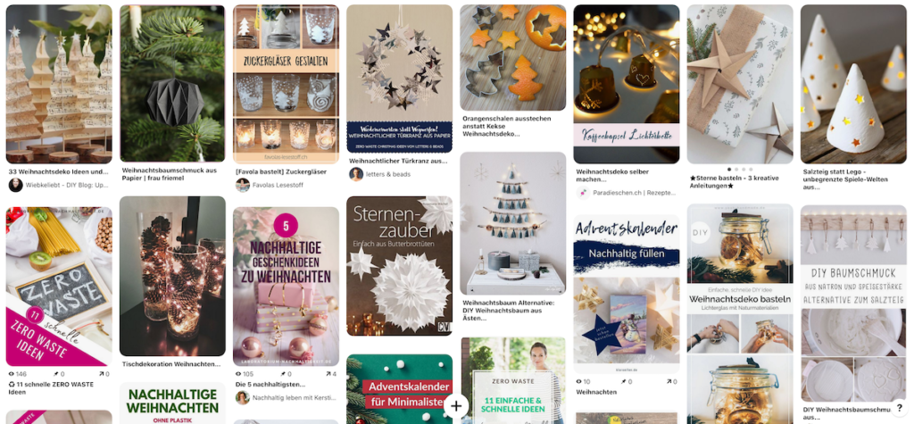 Zero Waste Weihnachten – Ideen bei Pinterest finden